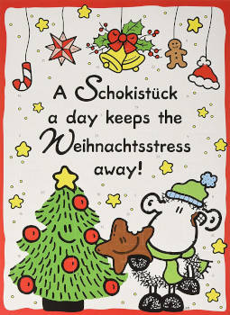 Schokolade Sheepworld Adventskalender