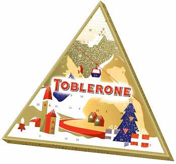 Schokolade Toblerone Adventskalender
