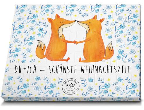 Mr. & Mrs. Panda Schokoladen Adventskalender Fuchs Liebe Weihnachtszeit
