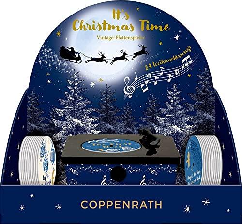 """Sound-Adventskalender """"It's Christmas Time"""": Vintage-Plattenspieler mit 24 Weihnachtssongs Inhalt"""