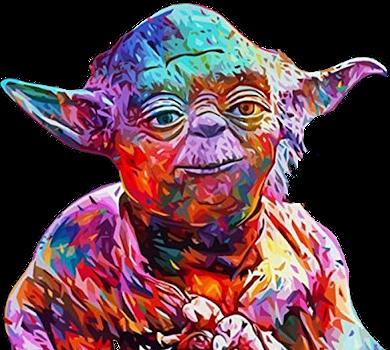 Star Wars Füllen Malen nach Zahlen Meister Yoda