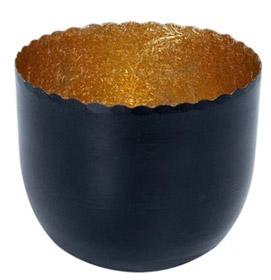Bulters Teelichthalter schwarz-gold