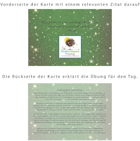 Inhalt The Mindful Moment Company Adventskalender