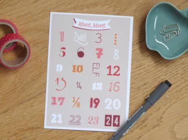 Postkarte Kalender